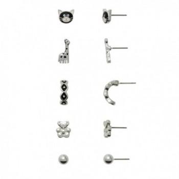 Hypoallergenic 5 Pair Earring Set for Sensitive Ears - CW1882W0CQA