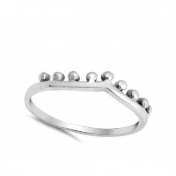 Chevron Crown Sterling Silver RNG17292 7