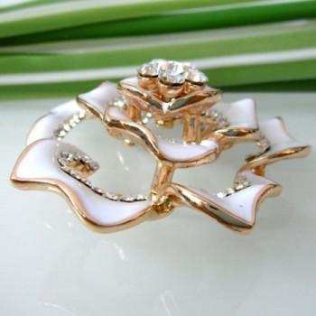 Navachi Plated Crystal Enamel Az7433b in Women's Brooches & Pins