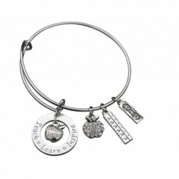 Infinity Collection Teacher Bracelet- Teacher Jewelry- Teacher Gift - Show Your Teacher Appreciation - CN12N6F8LA0