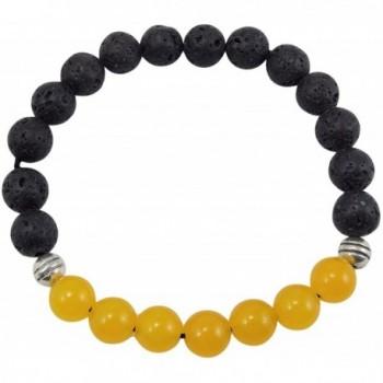 Volcanic natural lava yoga meditation healing wrist mala bracelet CL-12 - CL185WRG94D