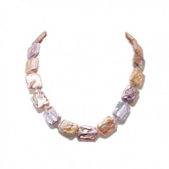 """JYX Classic Baroque Freshwater Cultured Pearl Necklace 19"""" - Lavender - CD17YTU4WH4"""