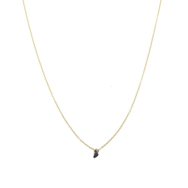 HONEYCAT Gold Black Onyx Karma Single Crystal Necklace | Minimalist- Delicate Jewelry - CV12FX2S1KH