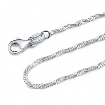 Sterling Silver Singapore Necklace Lightweight - C212CFBYYRD