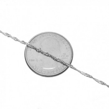 Sterling Silver Singapore Necklace Lightweight
