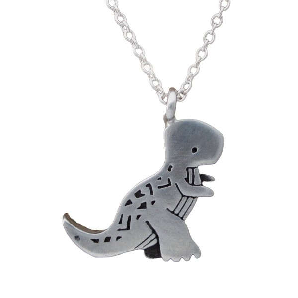 "Mark Poulin Women's Pewter Necklace Tyrannosaurus Rex Dinosaur 18"" Chain - CG11Q2B5TNB"