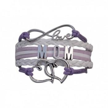 "Mom Bracelet- Mom Jewelry- Mom Infinity Bracelet- Makes the Perfect Gift For Moms - "" Purple "" - CX12GL5OLVN"