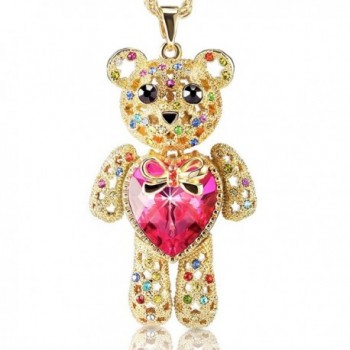 ANPHSIN Necklace Swarovski Girlfriend Valentines - rosy - CB1800N4GEU