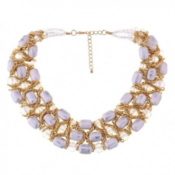 Weaving Crystal Necklace Chokers Statement