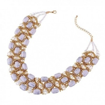 Weaving Crystal Necklace Chokers Statement in Women's Choker Necklaces