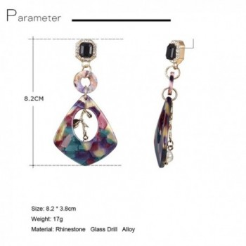 Geometric Acrylic Rinestone Earrings Bohemian