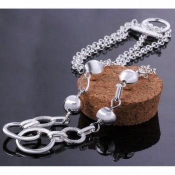 MaiJin Silver Bracelet Fashion Jewelry in Women's Link Bracelets