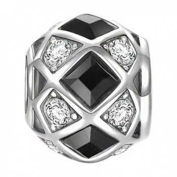 SOUFEEL Swarovski Black and White Magic Charm 925 Sterling Silver Charms Fit European Bracelets - C811ACNDNDH