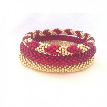 Galvanised Handmade Crocheted Bracelets Japanese