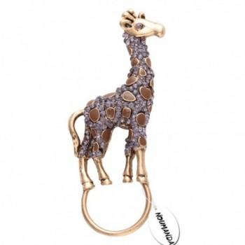 NOUMANDA Retro Jewelry Crystal Rhinestone Giraffe Brooch Pin-Animal Magnetic Eyeglass Holder - blue - CY12J5R8809