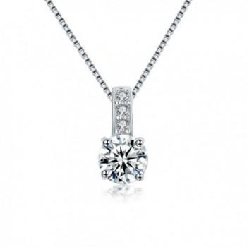 NEWBARK Setting Diamond Necklace Engagement - White - CD12BBBD6OF