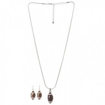 Artisan Owl Football Necklace Earrings in Women's Jewelry Sets