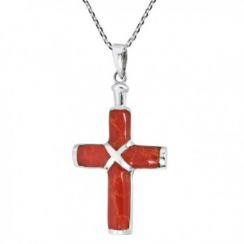 Christian Reconstructed Sterling Pendant Necklace