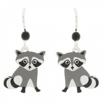 Sienna Sky Cute Baby Raccoon Dangle Earrings - C8185ASI8K2
