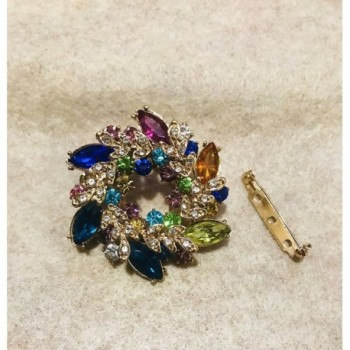 Vintage Flower Rhinestone Crystal Rainbow in Women's Brooches & Pins
