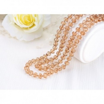 Crystal Necklace Knotted Jewelry Champagne in Women's Strand Necklaces