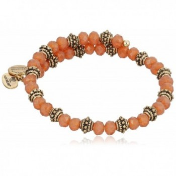 Alex and Ani Bloom Wrap Sunset Rafaelian Bangle Bracelet - Rafaelian Gold - CL12CLZ7B4L