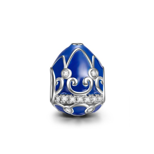 Easter Egg 925 Sterling Silver Bead Charms Best Easter Day Gifts