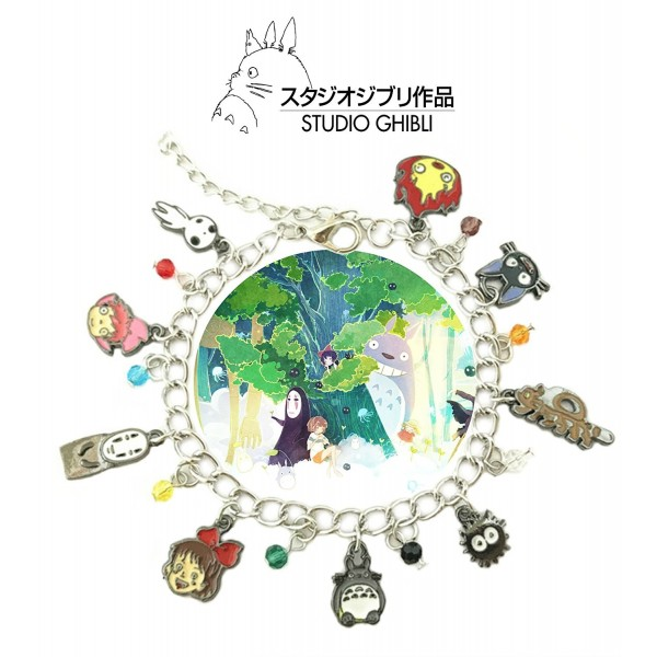 Studio Ghibli Toon Anime Movie Charm Link Bracelet With Gift Box from Outlander Gear - CL188QQAHWU