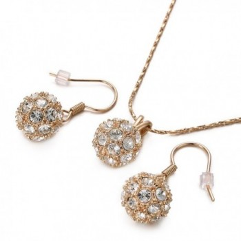 Yoursfs Shamballa Necklace Earrings Cocktail in Women's Jewelry Sets