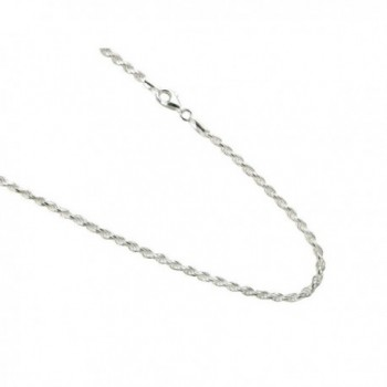 3mm Sterling Silver Diamond-cut Rope Chain .925 Italian Necklace - C011TDL1WO7