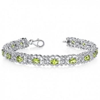 Peridot Bracelet Sterling Silver 7.00 Carats Vintage Design - CS111PMCRWN