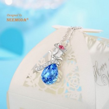 Crystal Necklace Birthday Anniversary Valentines in Women's Pendants