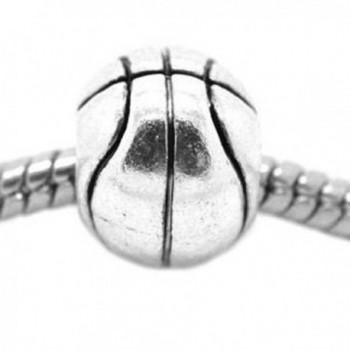 Basketball Charm Spacer Beads For Snake Chain Charm Bracelet - C111B4DX3XF