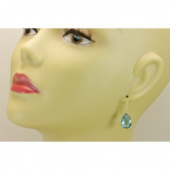 Earrings Faceted Simulated Briolette Teardrops