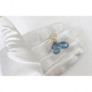 Earrings Faceted Simulated Briolette Teardrops in Women's Drop & Dangle Earrings