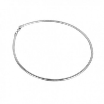 HooAMI Jewelry Stainless Steel Snake Chain Lobster Clasp Lady Collar 45cm - C212D9NEH91