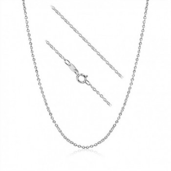 Sterling Silver 1.5mm Cable Chain Necklace - C311V8YEP73