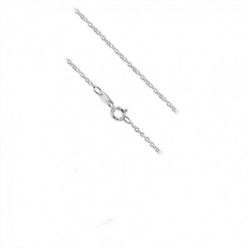 Sterling Silver 1 5mm Cable Necklace in Women's Anklets