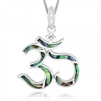 Sterling Silver Abalone Pendant Necklace - Abalone Shell - CI12EWP8G5B