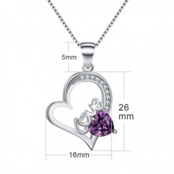 February Birthstone Necklace Amethyst Necklaces