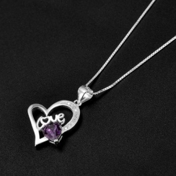 February Birthstone Necklace Amethyst Necklaces in Women's Pendants