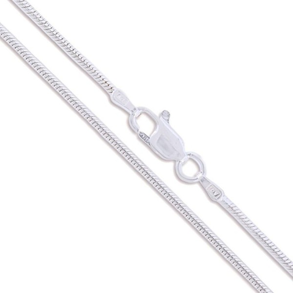 Sterling Silver Magic Round Snake Chain 2mm Solid 925 Italy Brazilian Necklace - C511EYZP7RP