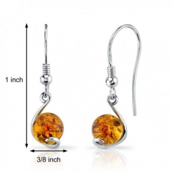 Baltic Spherical Fishhook Earrings Sterling