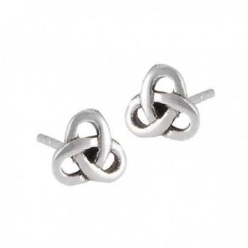 .925 Sterling Silver Celtic Knot Stud Post Earrings - CT11FFSP2X9