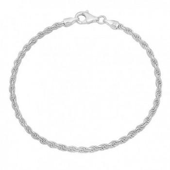 2.6mm 925 Sterling Silver Nickel-Free Diamond-Cut Rope Link Italian Chain + Bonus Polishing Cloth - CR12JXAWDZD