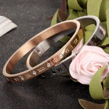 Titanium Steel Numerals Zirconia bracelet