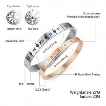 Titanium Steel Numerals Zirconia bracelet in Women's Cuff Bracelets