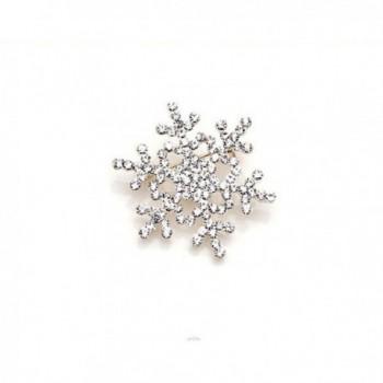 Welcomeuni Fashion Brooch Pin Crystal Rhinestone Large Snowflake Winter Snow Theme - C2128F9DIGR