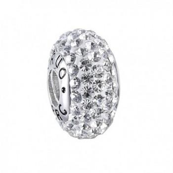 Sterling Crystal Birthstone Threaded Bracelets - White - CY12E4Y0UUJ