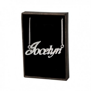 "Name Necklace ""Jocelyn"" - 18K White Gold Plated - CG11KR016RB"